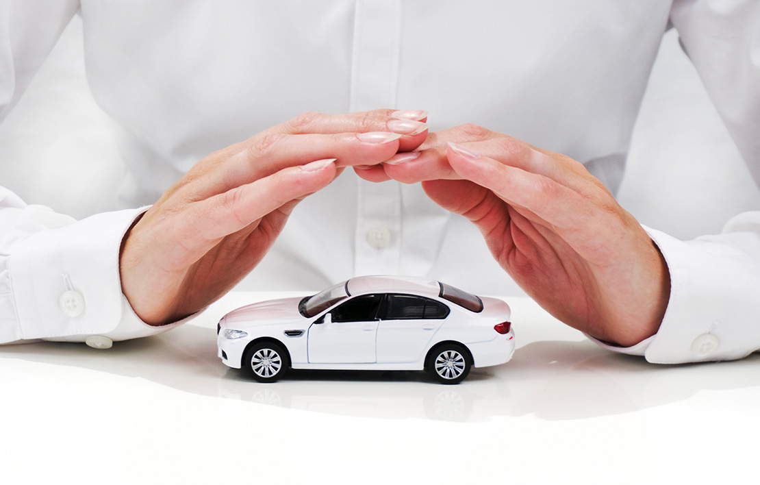 White car covered with hands